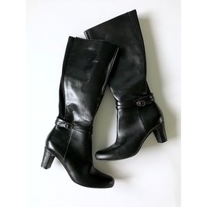 Shoes - Faux Leather Knee-High Boots